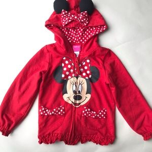 Minnie Mouse Hoodie with ears 4T